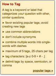 Tagging guidelines on Stack Overflow