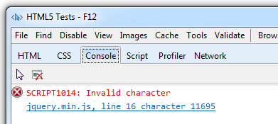 JSON error in IE9